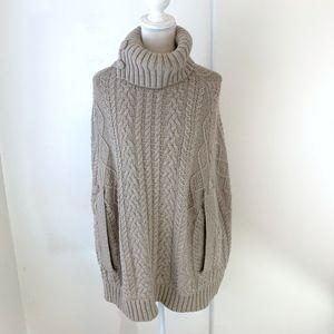Anthro FietsVoor 2 Turtleneck Sweater Poncho {LH}
